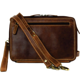 "Rugged Earth Rugged Earth Large Leather Organizer 199014 Brown W 10""*H 7""*D 3"""
