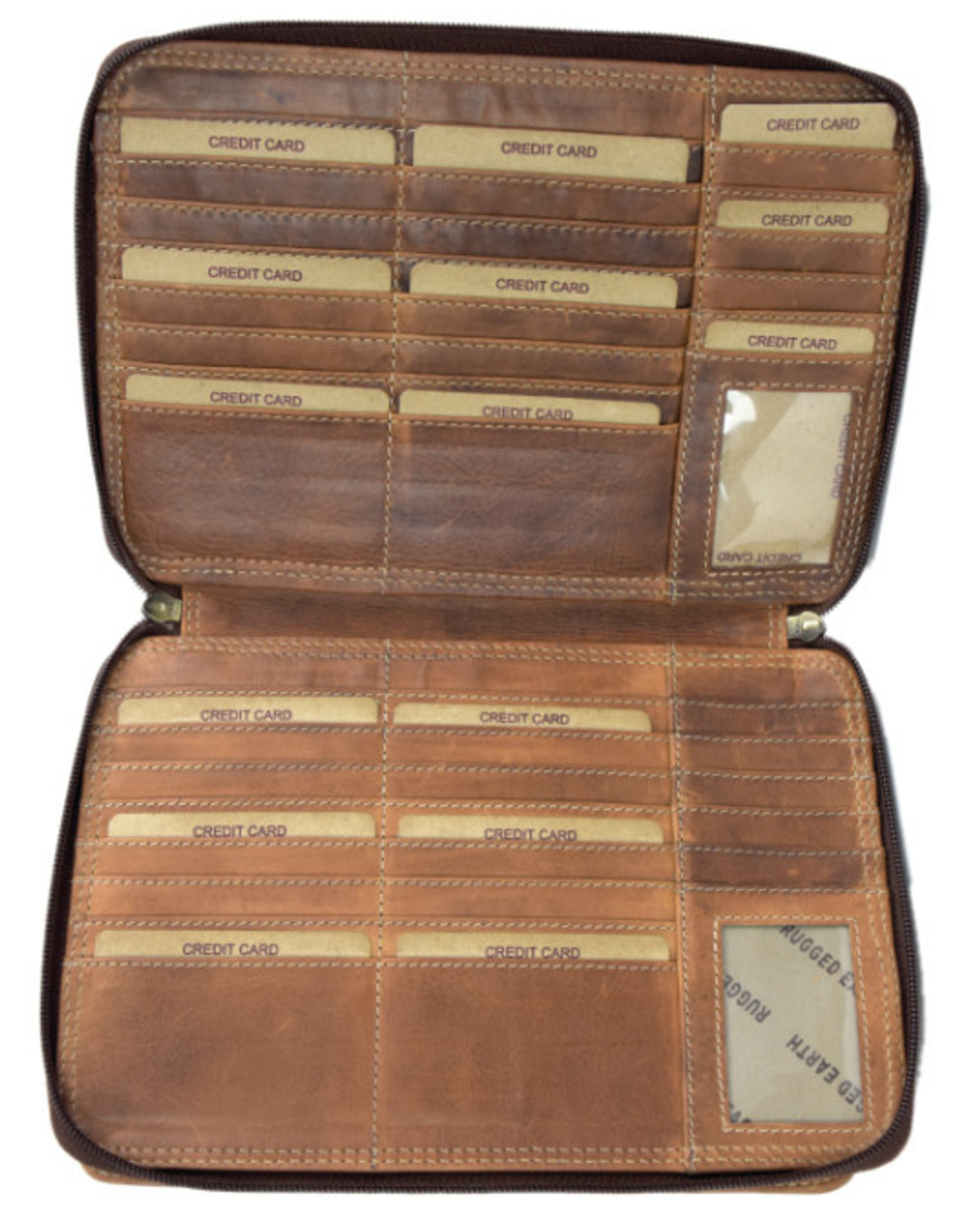 """Rugged Earth Rugged Earth Large Leather Organizer199014 Brown W 10""""*H 7""""*D 3"""""""