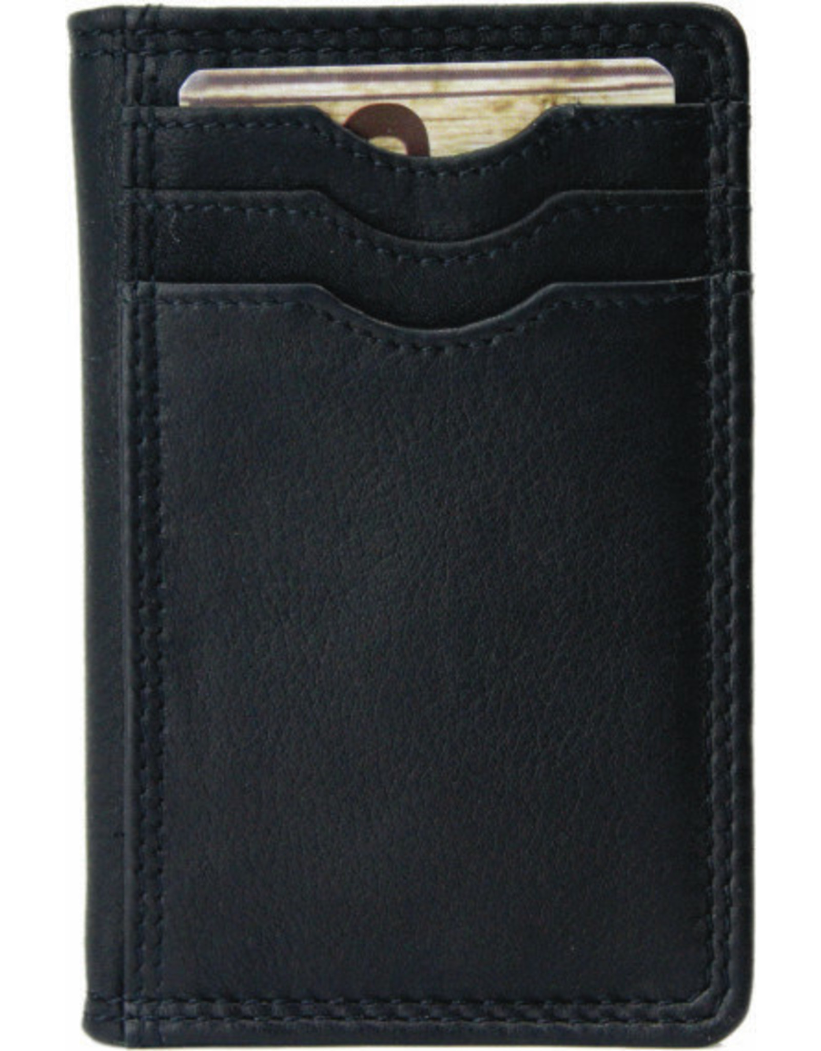 "Rugged Earth Rugged Earth Wallet  880019 Black W 3""*H4.25""*D 3/8"""