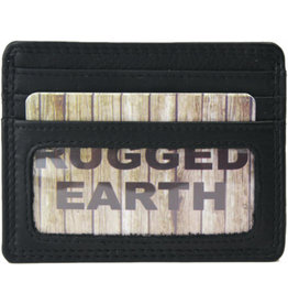 "Rugged Earth Rugged Earth Porte Cartes 880021 Black W 7 3/4""*H 4 1/4""*D 1"""