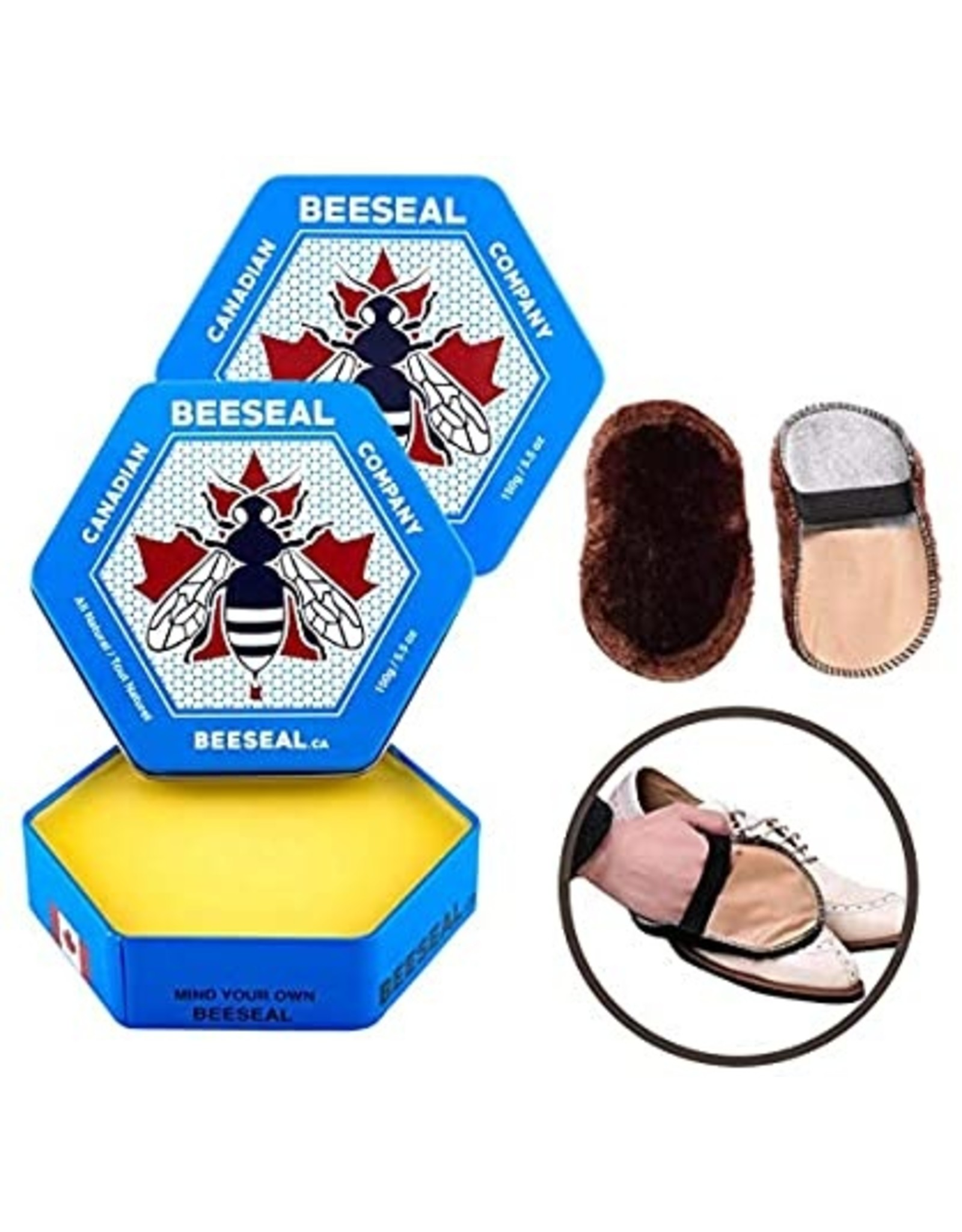 Canadian Beeseal Company 2 Canadian Beeseal 150g + 1 Gant de polissage