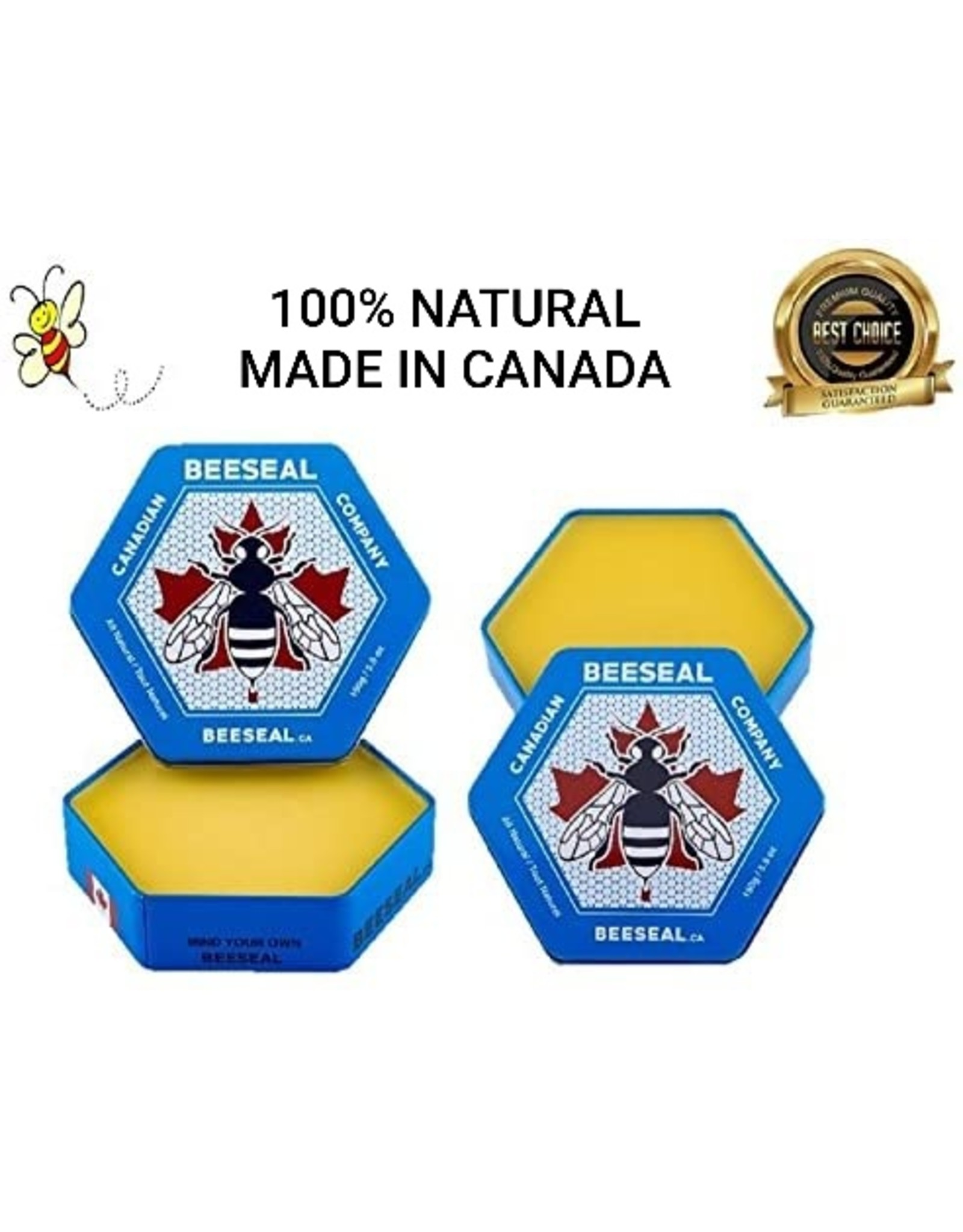 Canadian Beeseal Company 2 Pack Canadian Beeseal 150g + 1 Buffing Glove