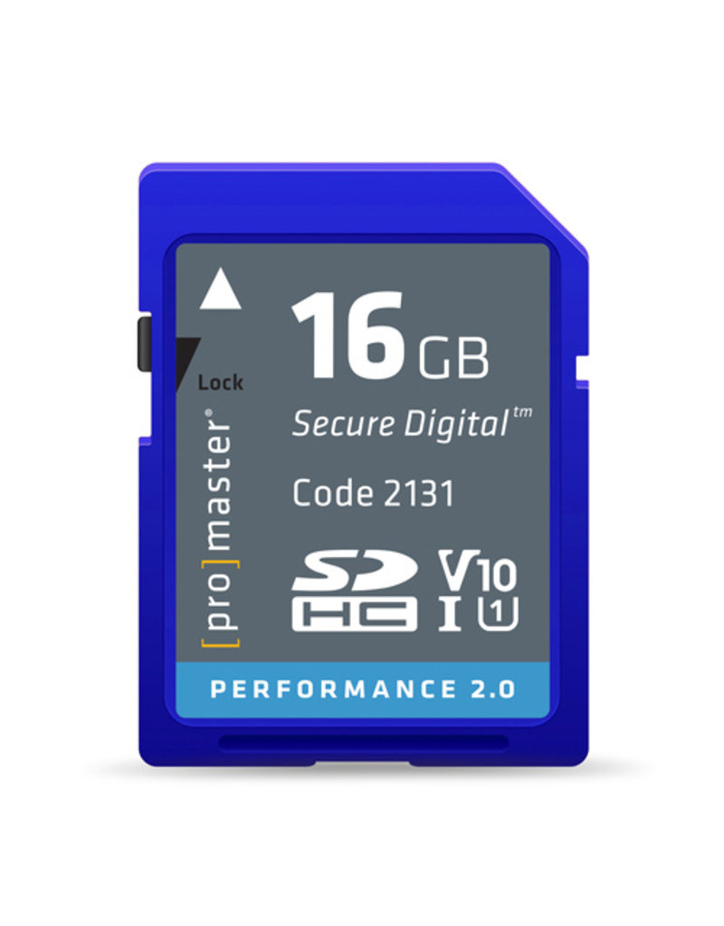 Pro Promaster SDHC 16GB Performance 2.0
