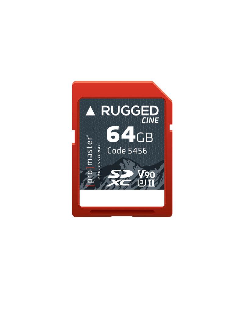 Pro Promaster SDXC 64GB CINE UHS-II Rugged
