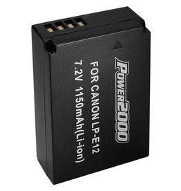 Power2000 Premium Tech Battery for Canon LP-E12