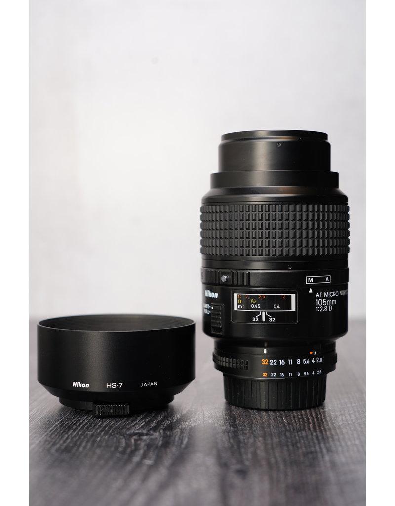 Nikon Used Nikkor 105mm F/2.8 D Micro Lens