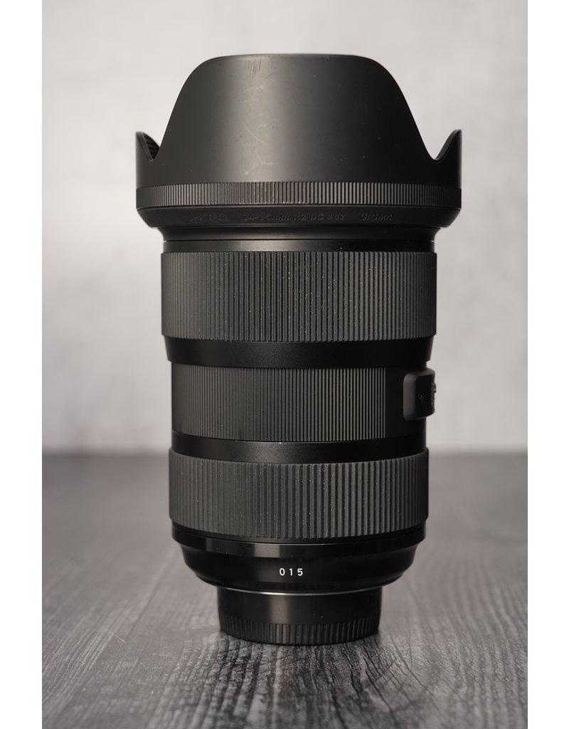 Nikon Used Sigma 24-35mm F/2.0 DG Art Lens for Nikon F w/ Original Box