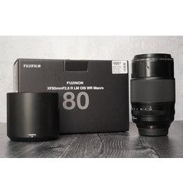 Fujifilm Used FujiFilm 80mm F/2.8 R LM OIS WR Macro Lens w/ Original Box