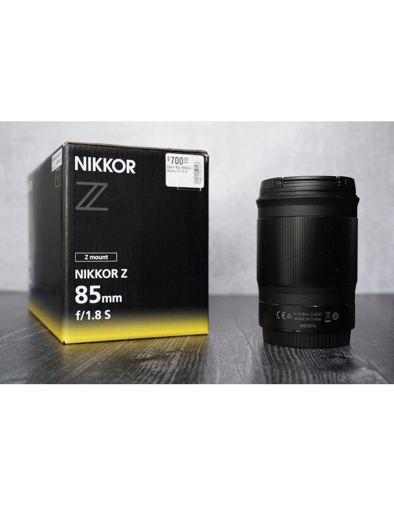 Nikon Open Box Nikkor 85mm F/1.8 S
