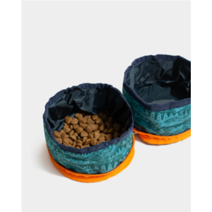 United By Blue Collapsible Double Dog Bowl