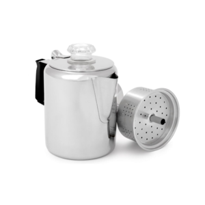 GSI Glacier Stainless Coffee Percolator with Silicone Handle