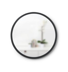 "Hub Wall Mirror 18"" Black"