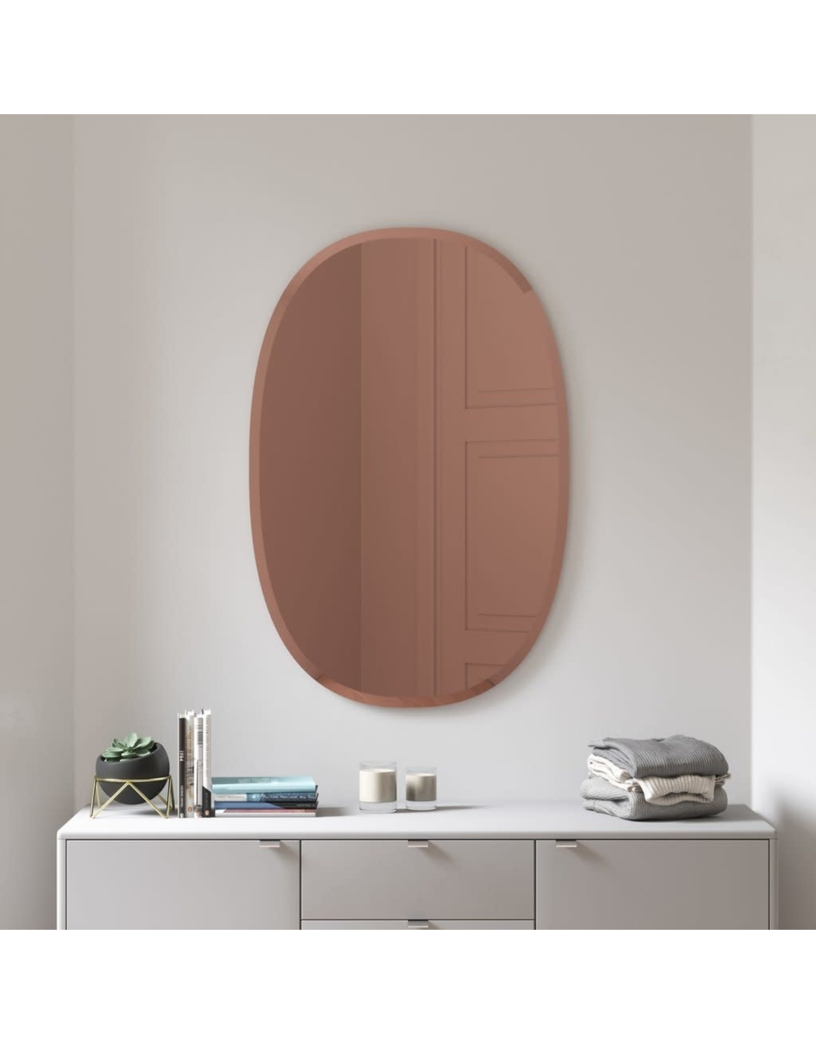 Copper Bevy Oval Mirror