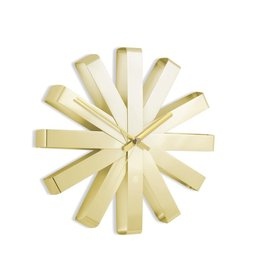 Brass Ribbon Wall Clock