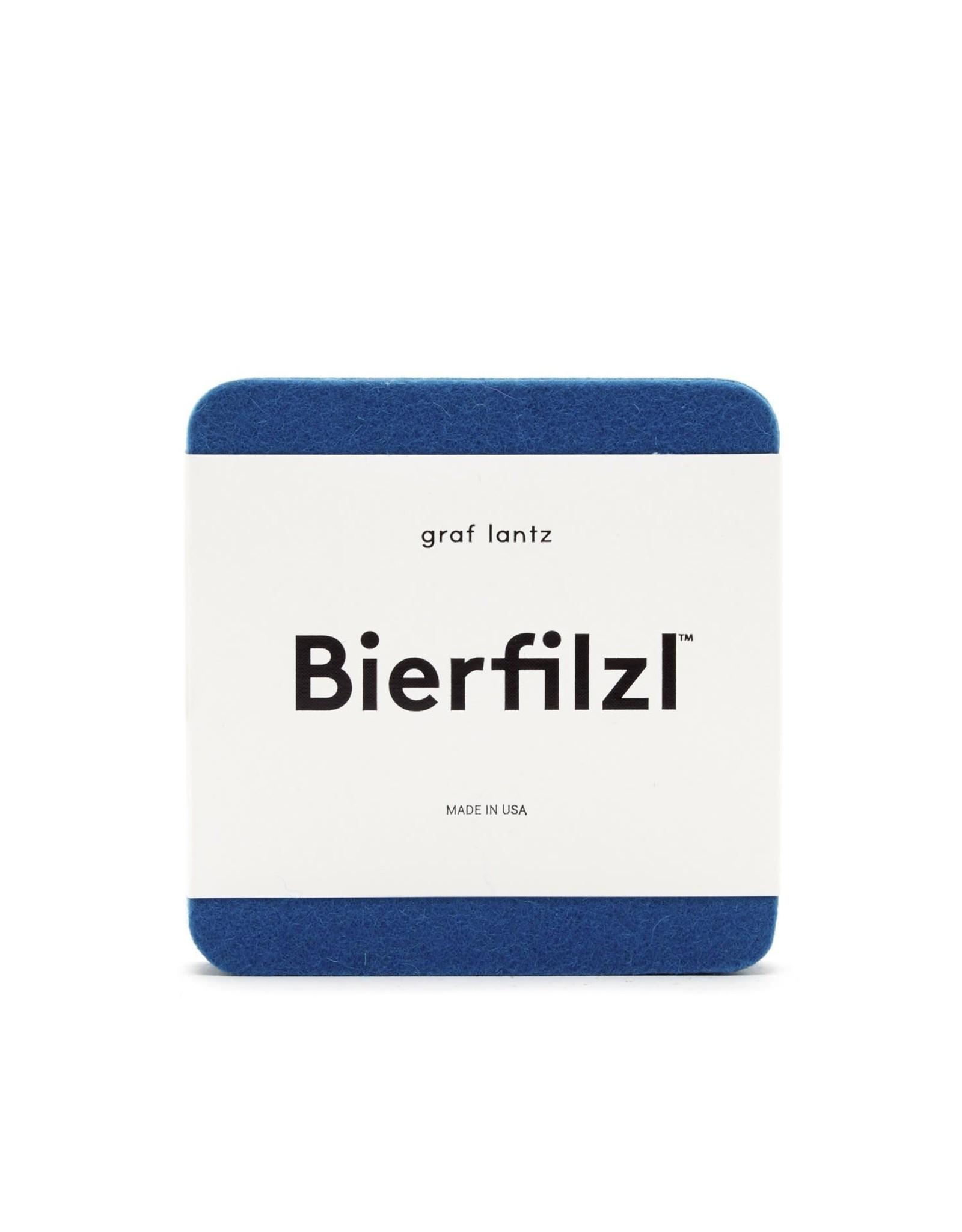 Bierfilzl Square Multi Color Felt Coaster in Electric