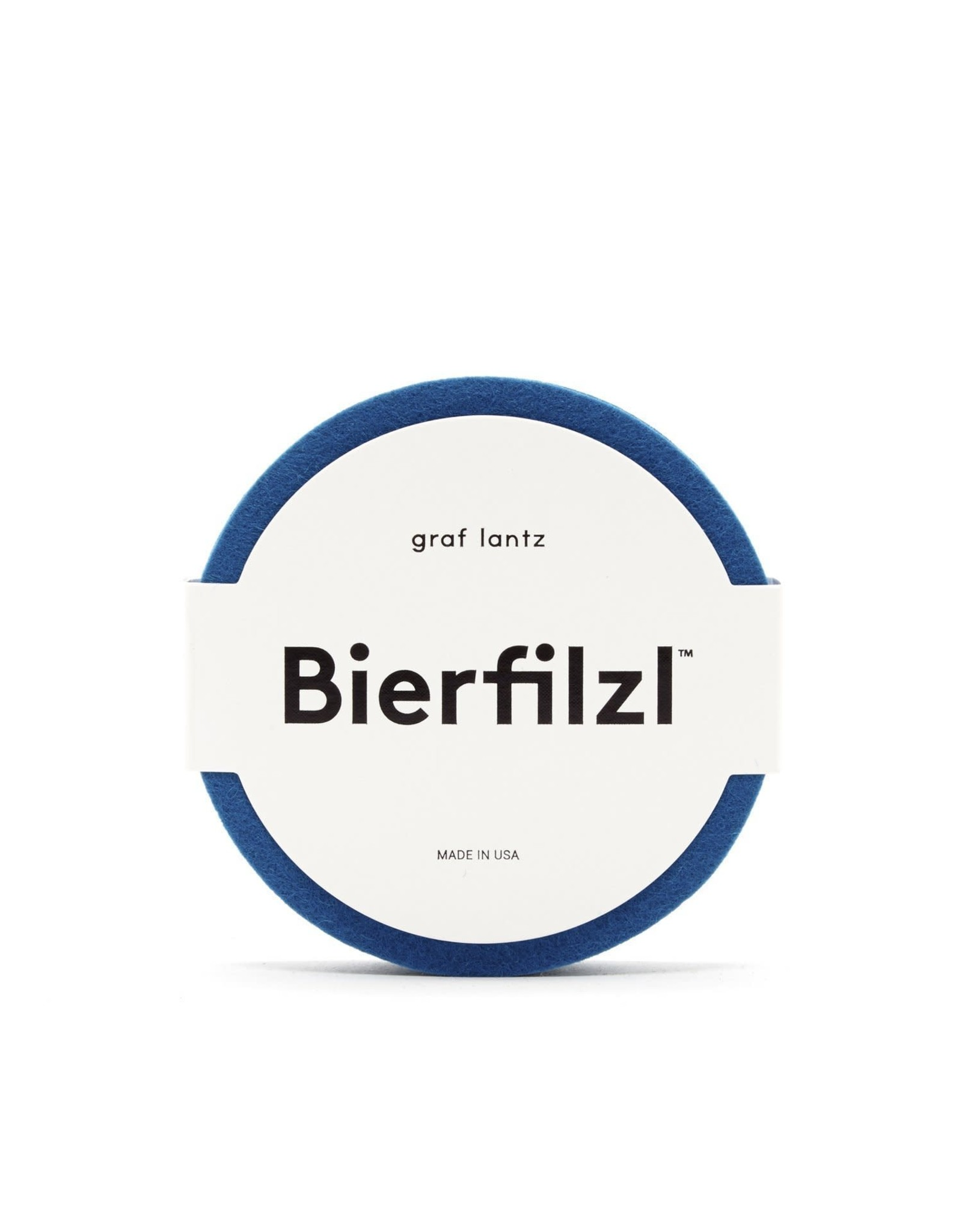 Bierfilzl Round Multi Color Felt Coaster in Electric