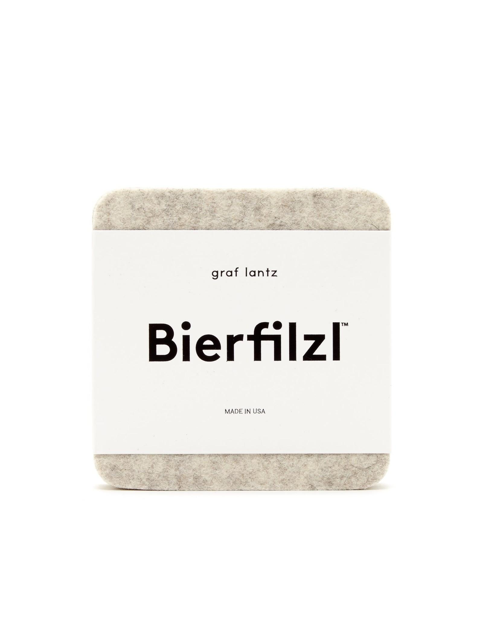 Bierfilzl Square Multi Color Felt Coaster in Midcentury