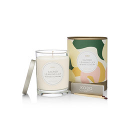 Sacred Leaning Lily Candle