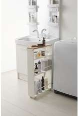 White Tower Storage Cart with Handle