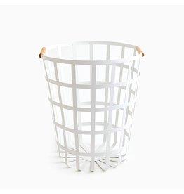 Round Laundry Basket White
