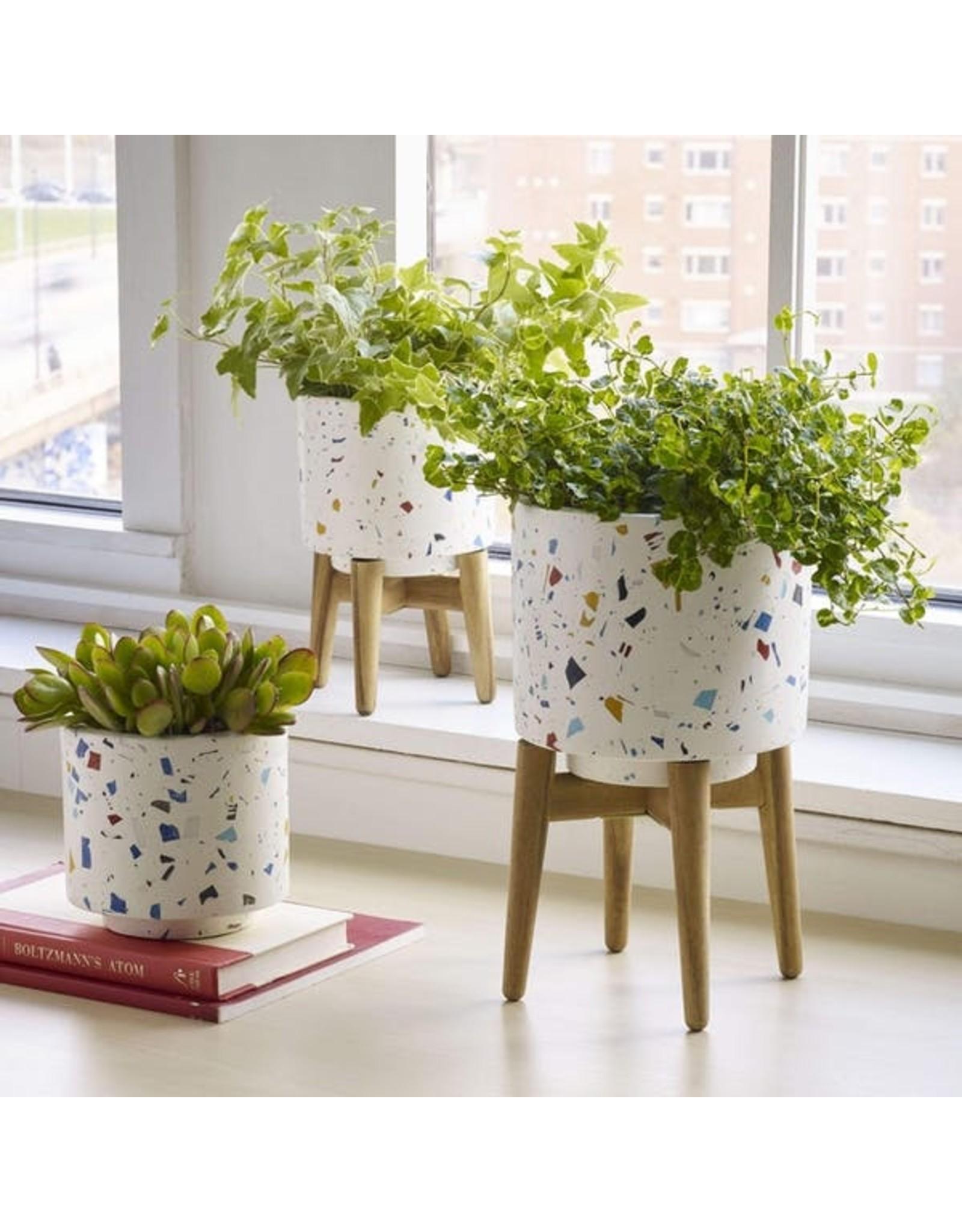 Terrazzo Planter with Legs - Small