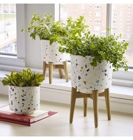 Terrazzo Planter with Legs - Small