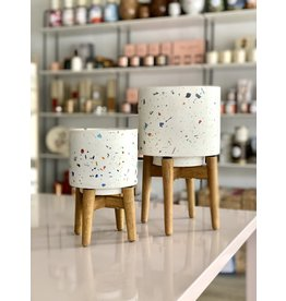 Terrazzo Planter with Legs - Large