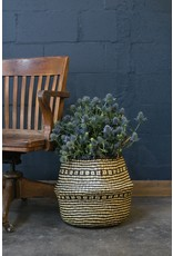 Woven Basket in Natural and Black