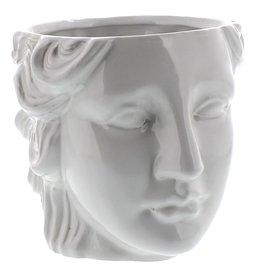 Juno Ceramic Head Cachepot