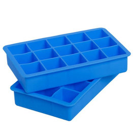 Perfect Cube Ice Tray - Set of 2 in Capri Blue