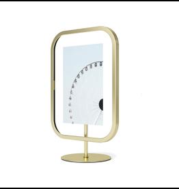 UMBRA Infinity Sqround 4x6 Photo Display in Brass