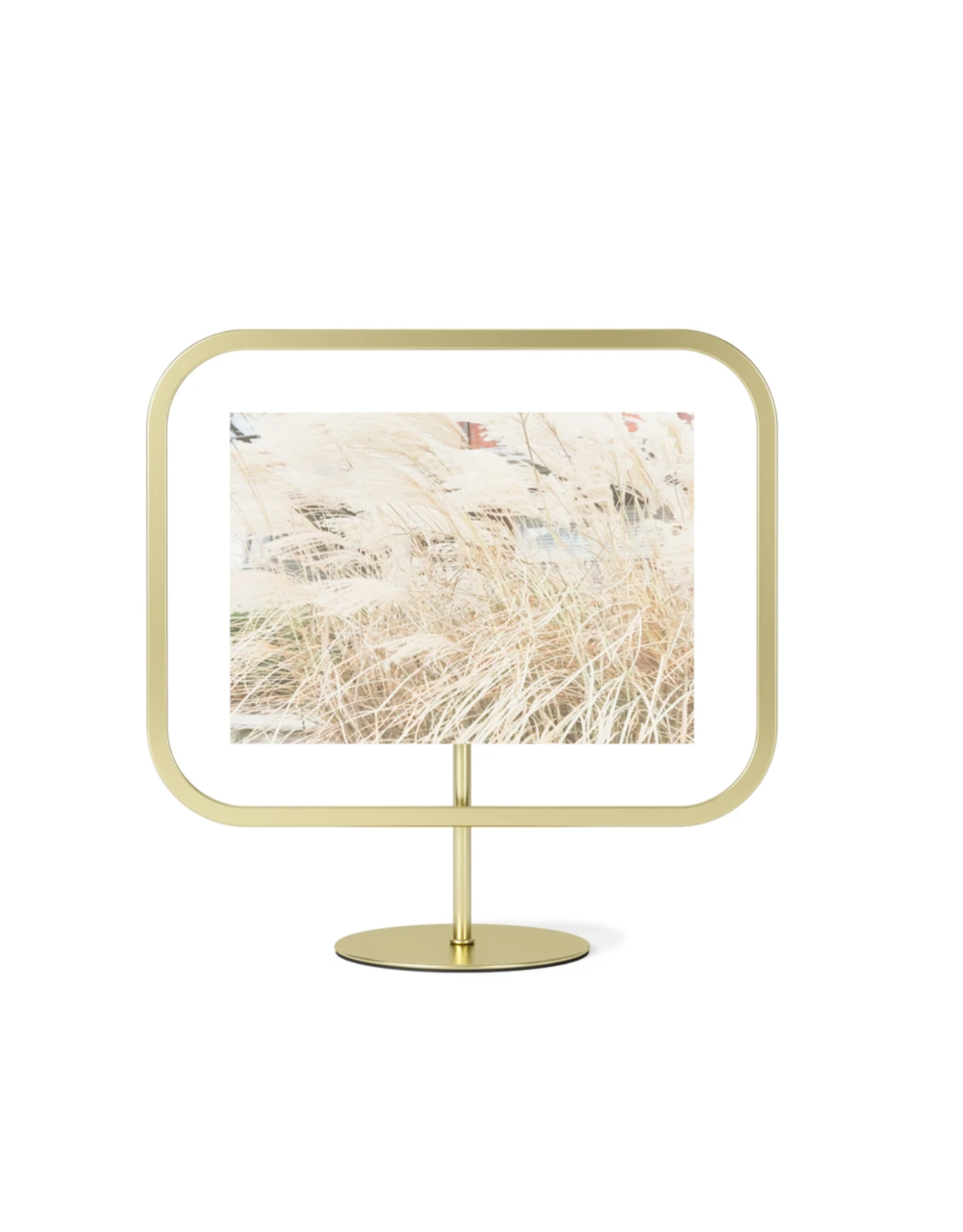UMBRA Infinity Sqround 5x7 Photo Display in Brass