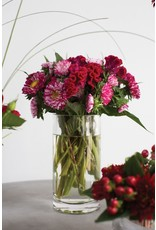 """Thick Glass Cylinder Vase - 4"""" x 8"""""""