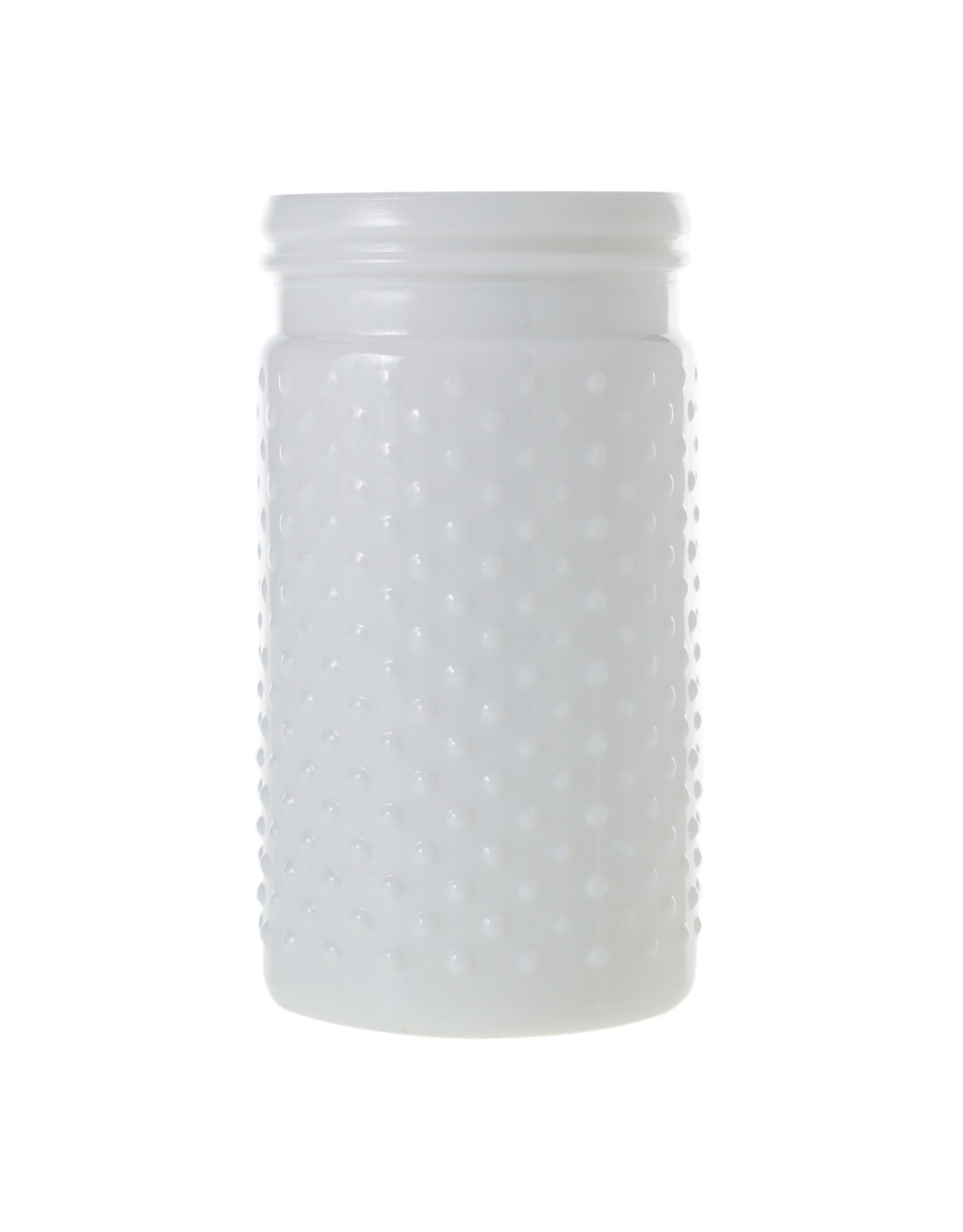 Hobnail Jar Vase in White