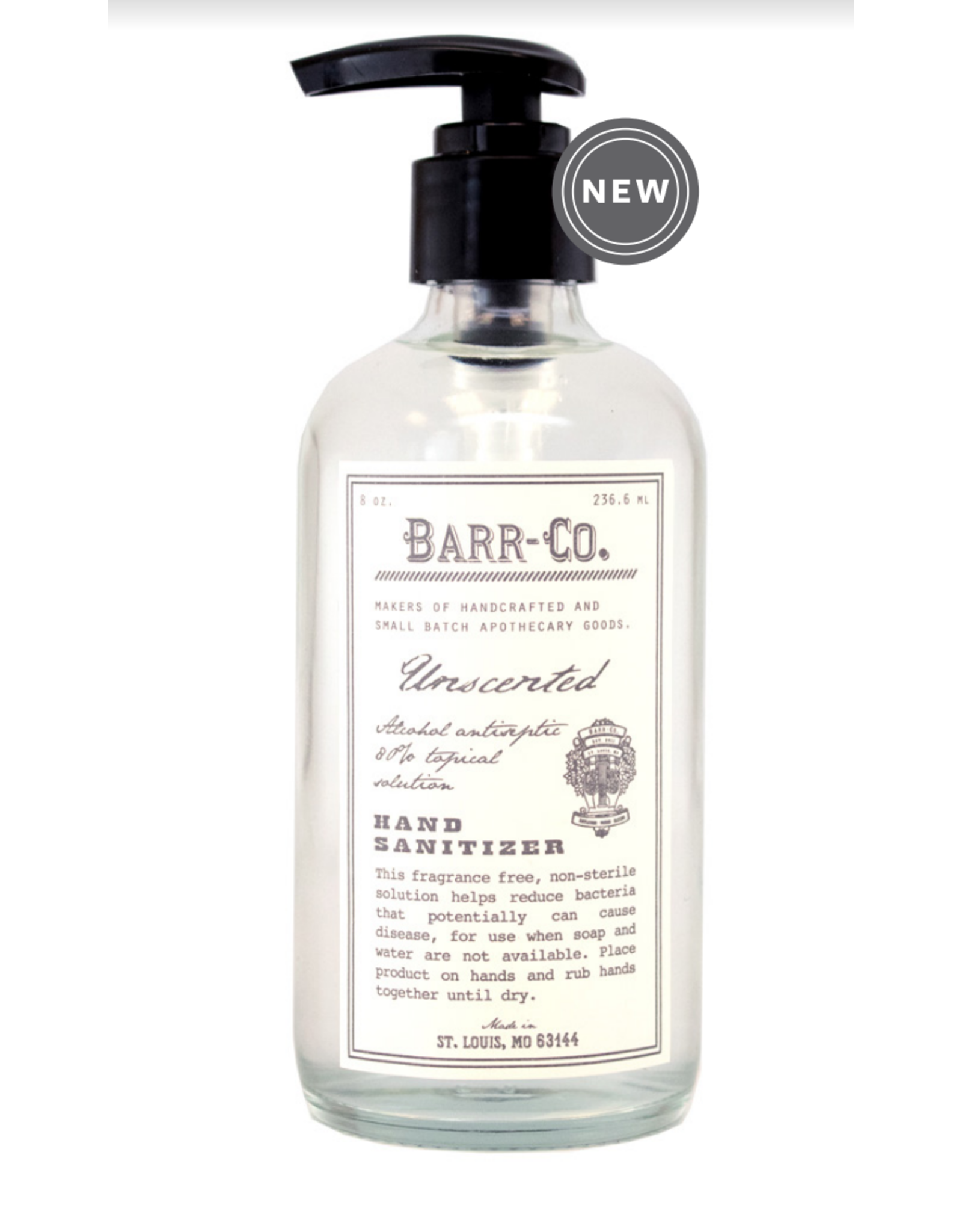 BARR 8oz Hand Sanitizer in Glass - Unscented