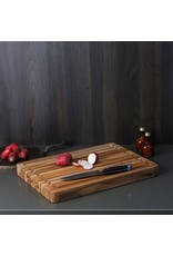 Teak Edge Grain Rectangle Carving Board 16 x 12 x 1.5in