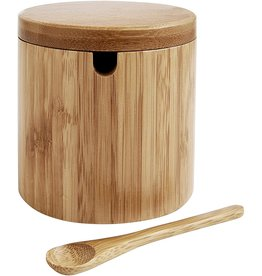 Bamboo Salt Box with Spoon