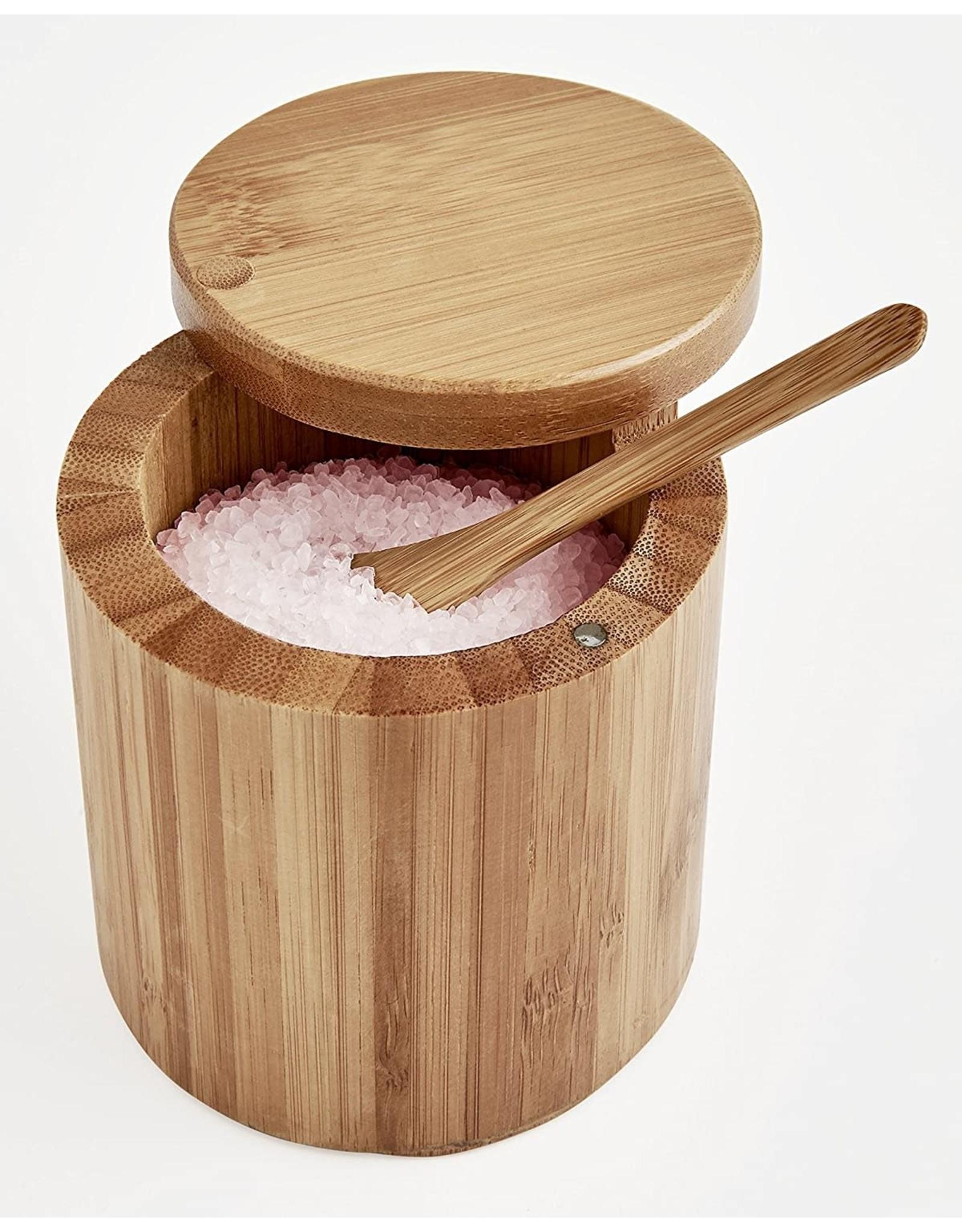 Bamboo Salt Box with Spoon