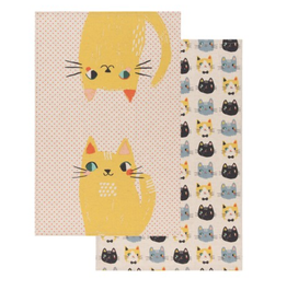 Set of 2 Meow Meow Dishtowels