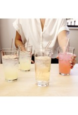 Set of 6 Clear Reusable Glass Straws