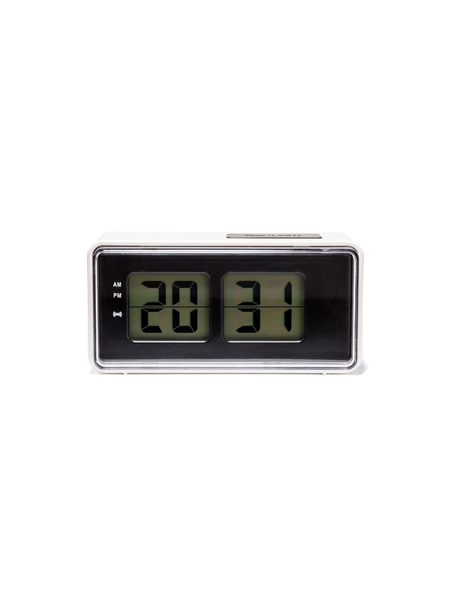 KIK Digital Alarm Clock in White