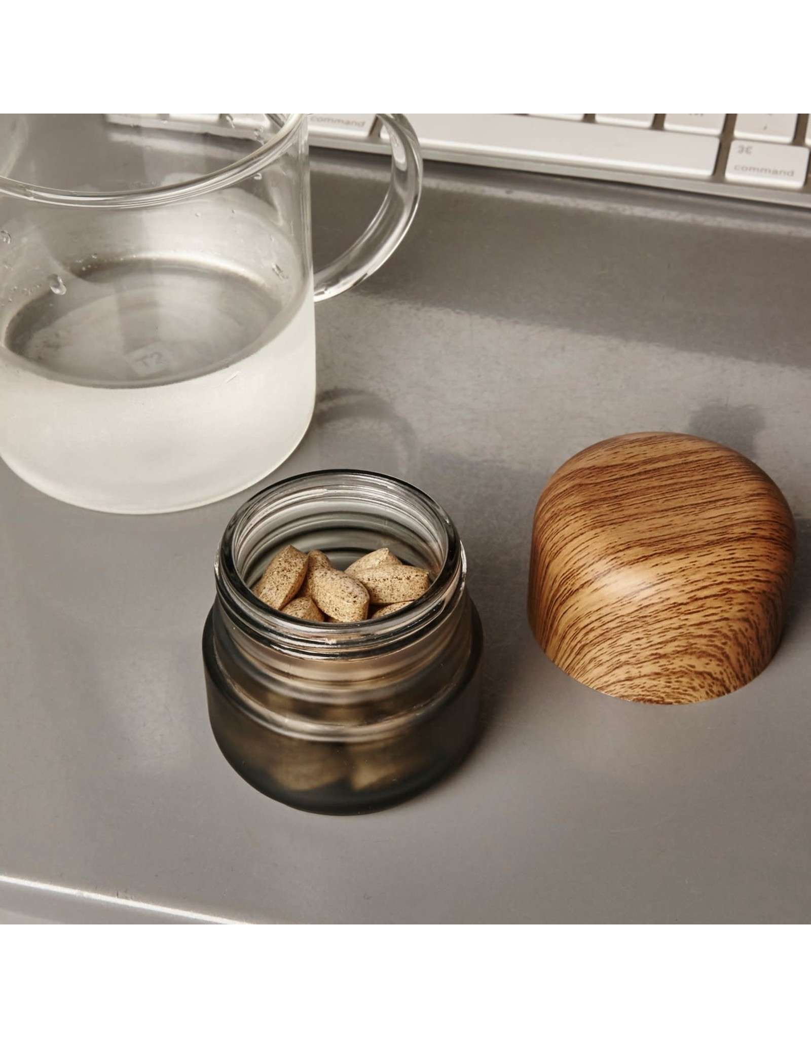KIK Small Childproof Stash Jar in Black