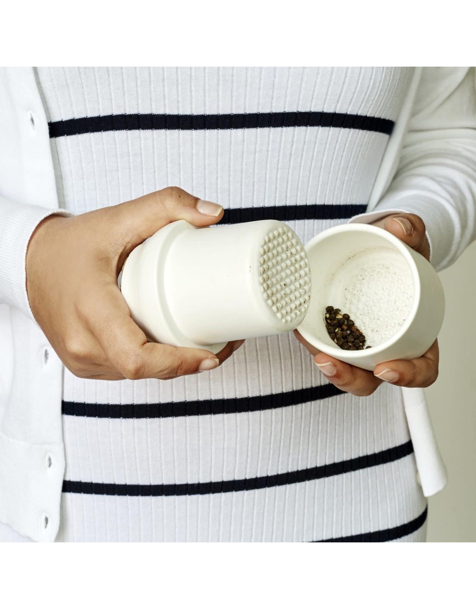 KIK Large Ceramic Grinder & Jar in White