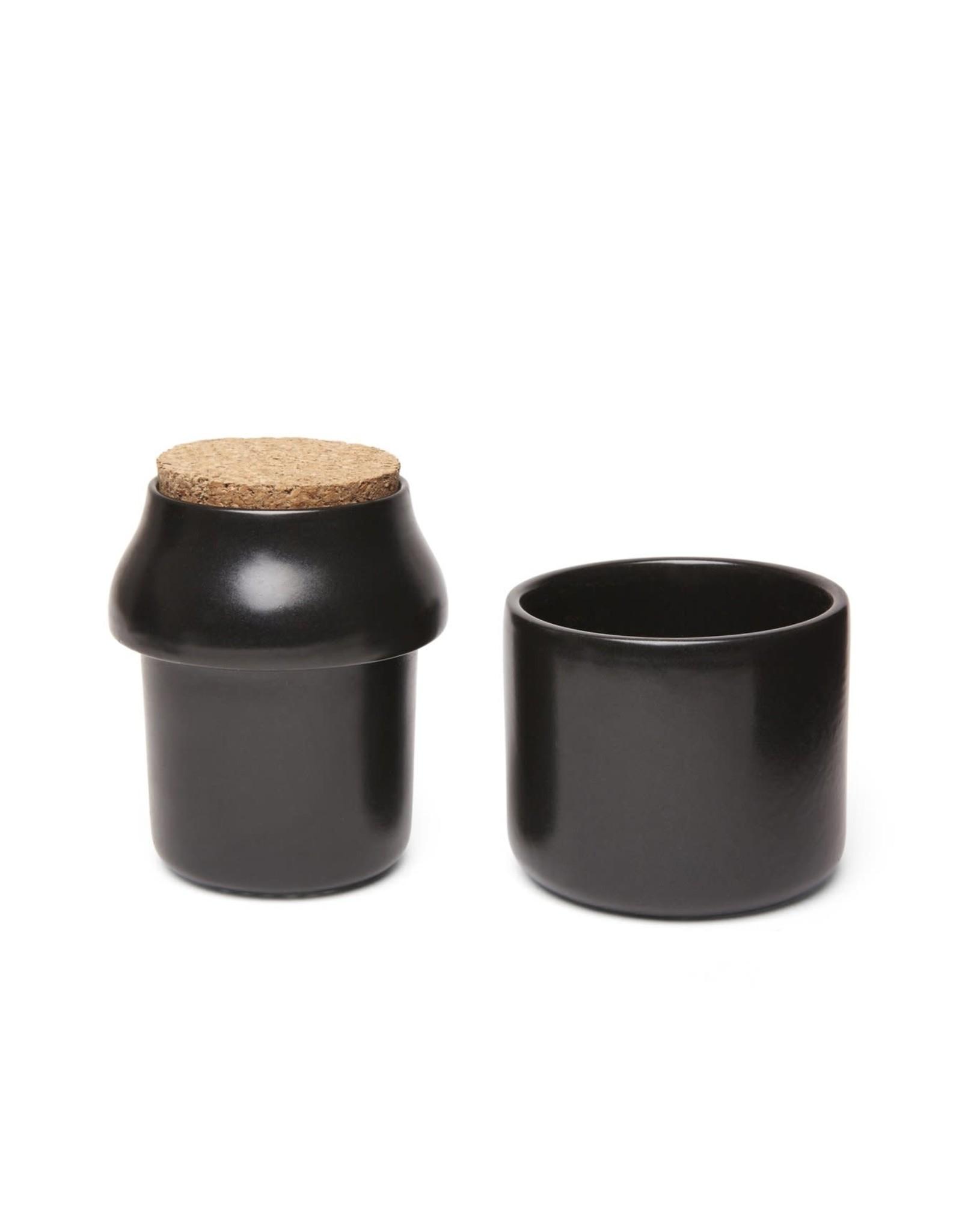 KIK Large Ceramic Grinder & Jar in Black