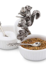 Arthur Court Designs Squirrel Double Salt Cellar