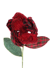 Katherine's Collection Large Plaid Magnolia Stem