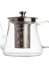 Vahdam Teas Glass Teapot w/ Infuser