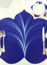 Carole Shiber Dark Blue And White Placemats