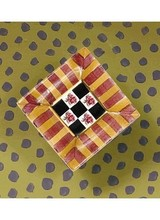 Mackenzie-Childs Torquay Knob Square Frank & Mustard Stripe