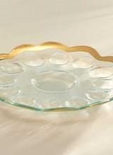 Annie Glass Roman Antique Deviled Egg Platter